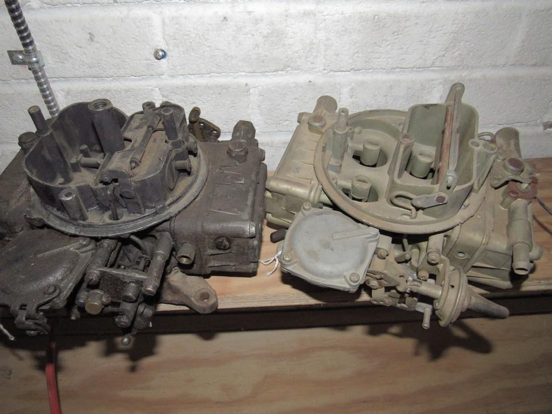 2 Holley 4 Barrel Carburetors - 2