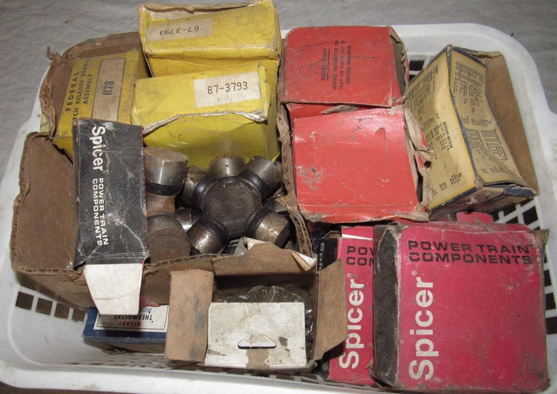 Universal Joints Thermostats Car Parts Box Lot