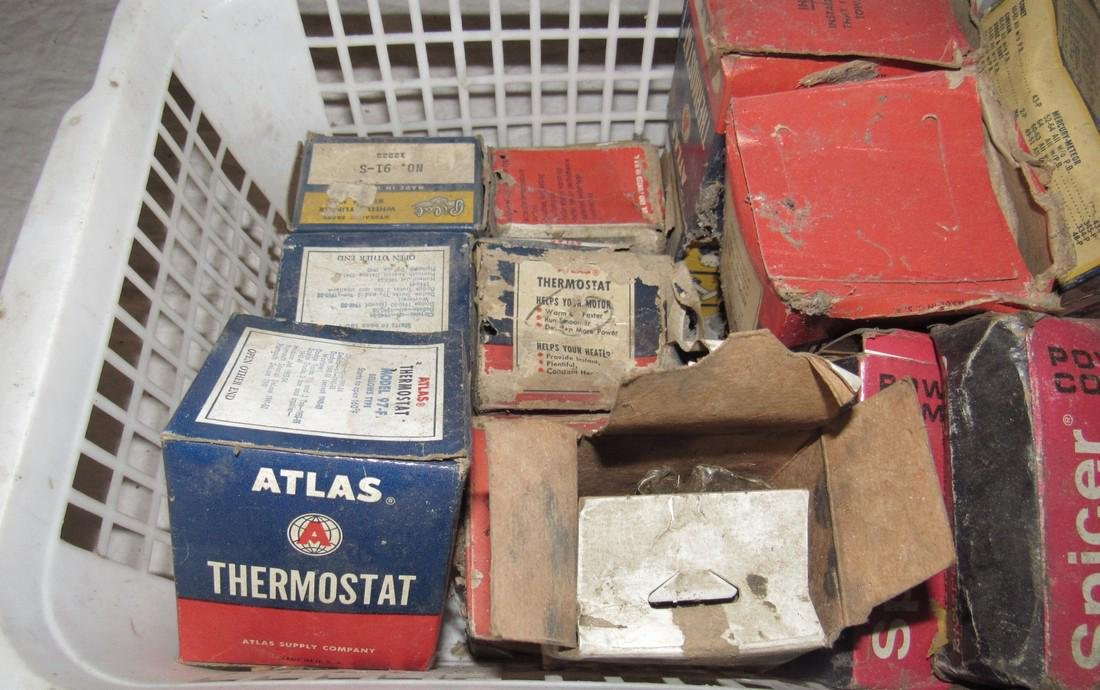 Universal Joints Thermostats Car Parts Box Lot - 2