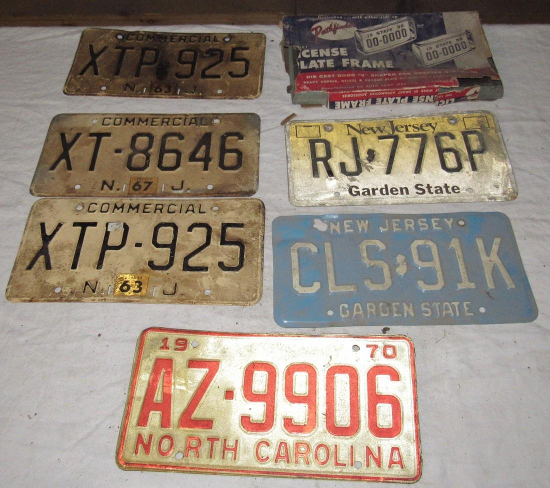 NJ & Arizona License Plates