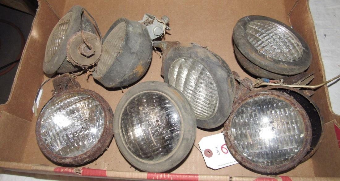 Box of Misc Tractor Lights