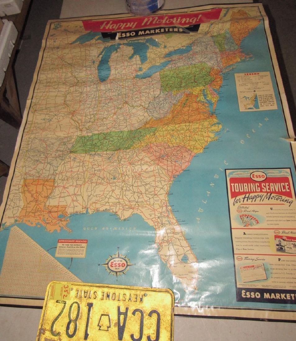 Esso Touring Service Map