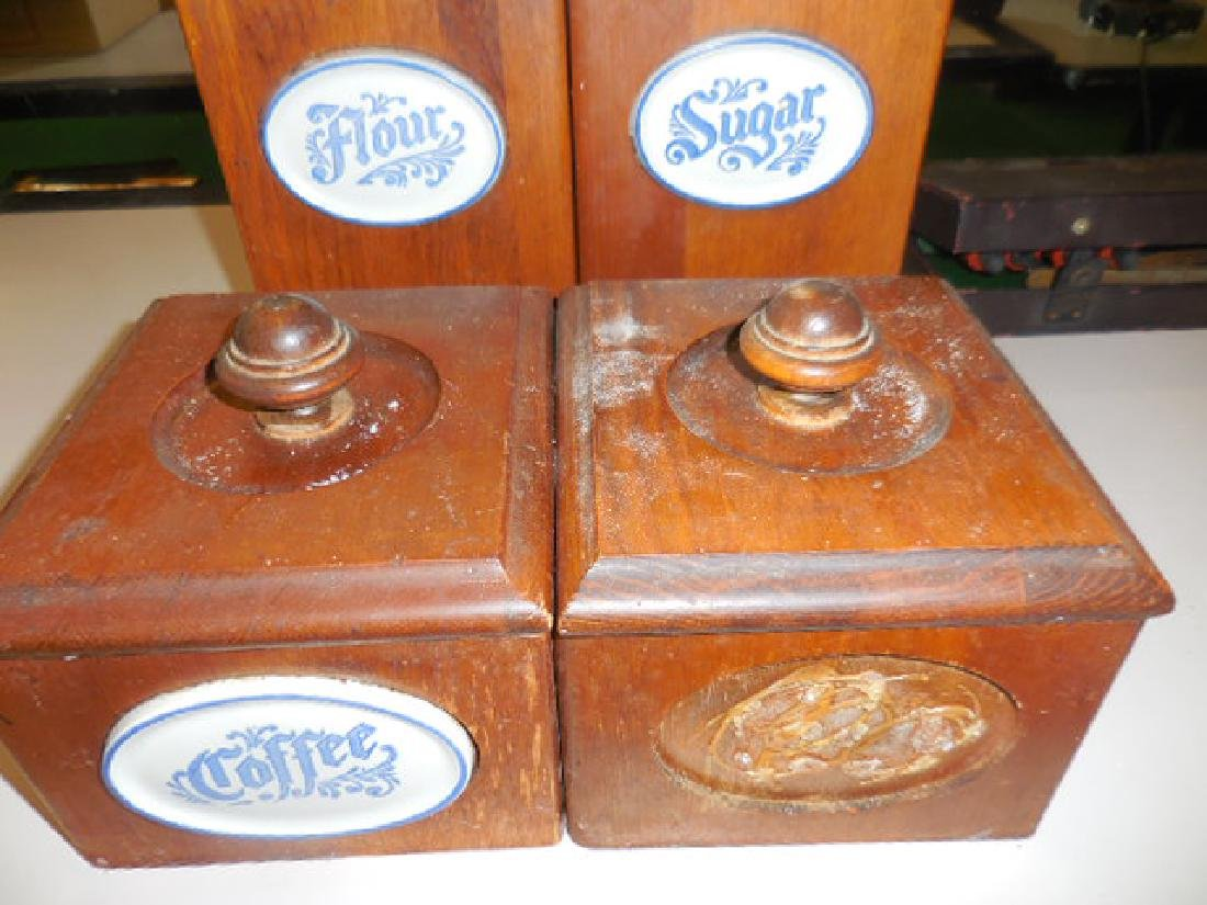Wood Canisters - 2