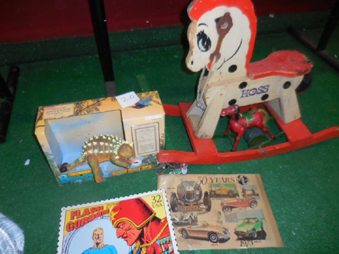 Vintage Wooden Rocking Horse, Toys