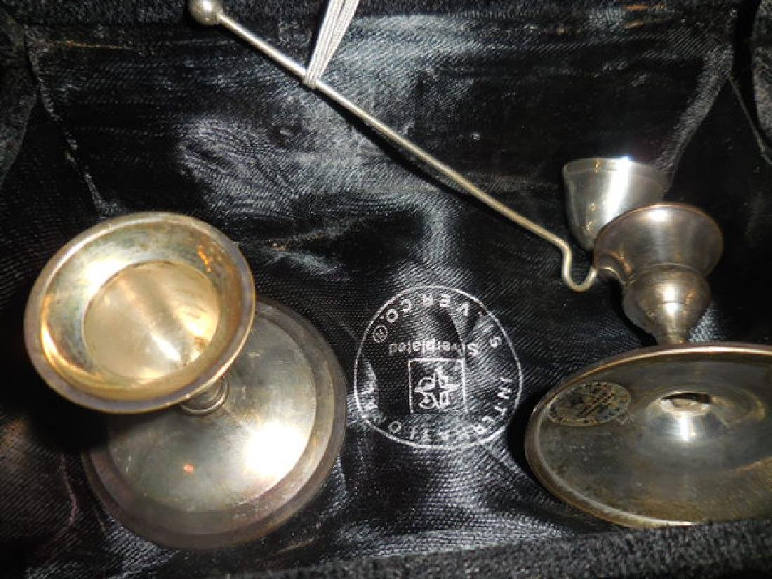 International Silver Co. Candle Holders - 3