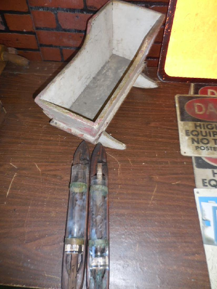 Shuttles, Antique Wood Doll Cradle