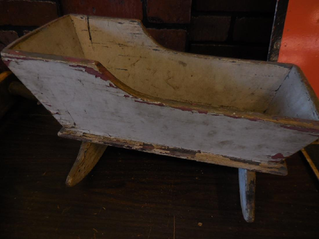 Shuttles, Antique Wood Doll Cradle - 2