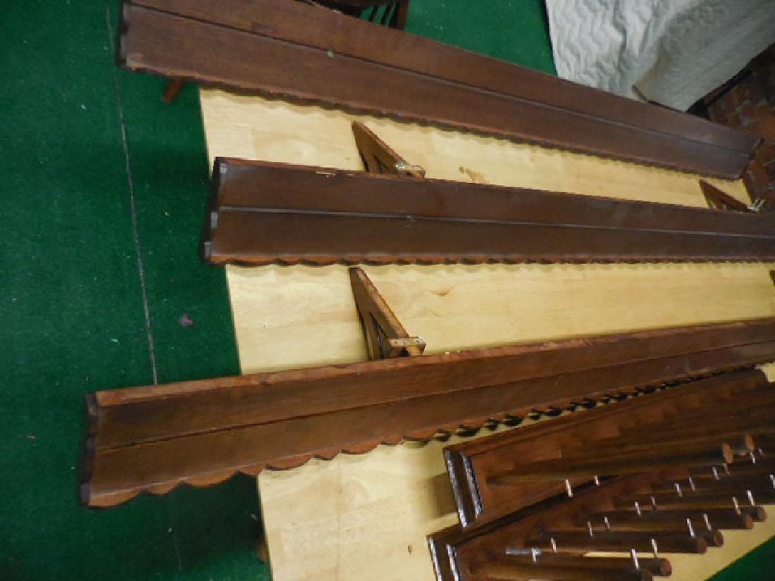 Wood Shelves, Wine Glass Rack - 3