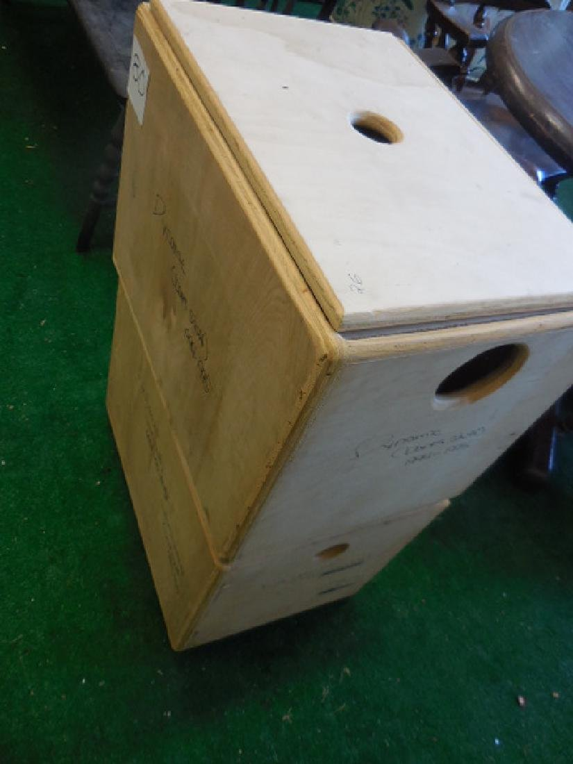 Two Wood Storage Boxes