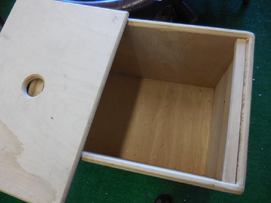 Two Wood Storage Boxes - 2