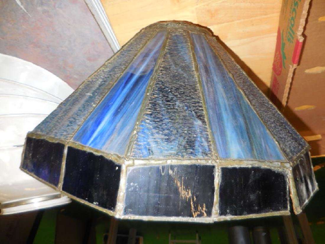 Blue Glass Lamp Shade