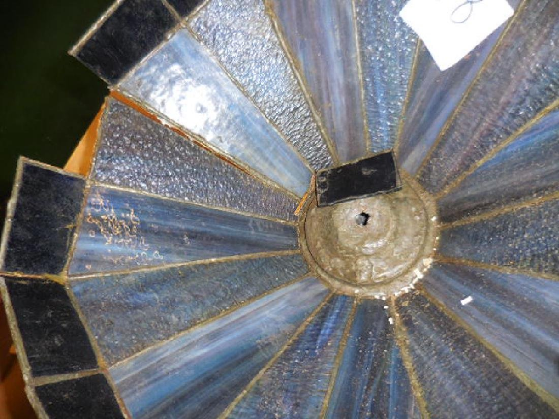 Blue Glass Lamp Shade - 2