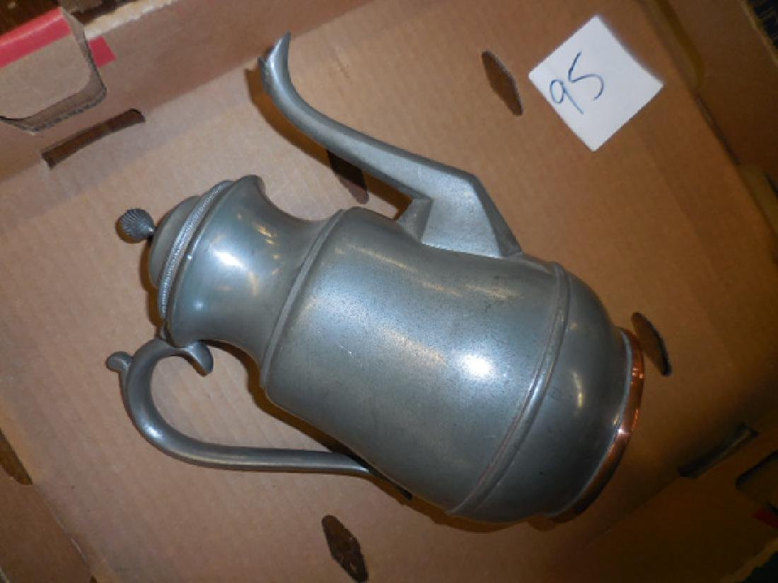 Pewter Coffee Pot Pitcher
