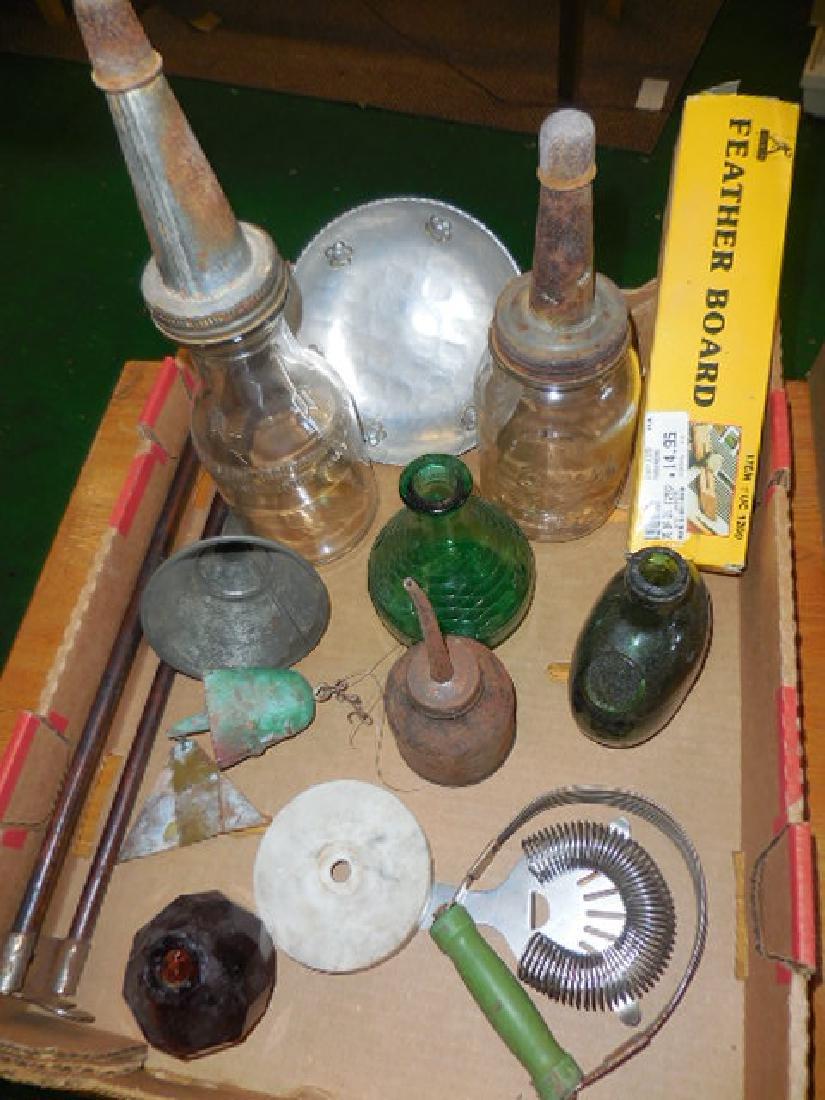 Motor Oil Bottles, Green Bottle Seal