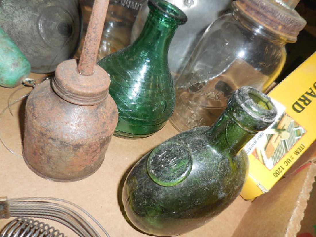 Motor Oil Bottles, Green Bottle Seal - 2