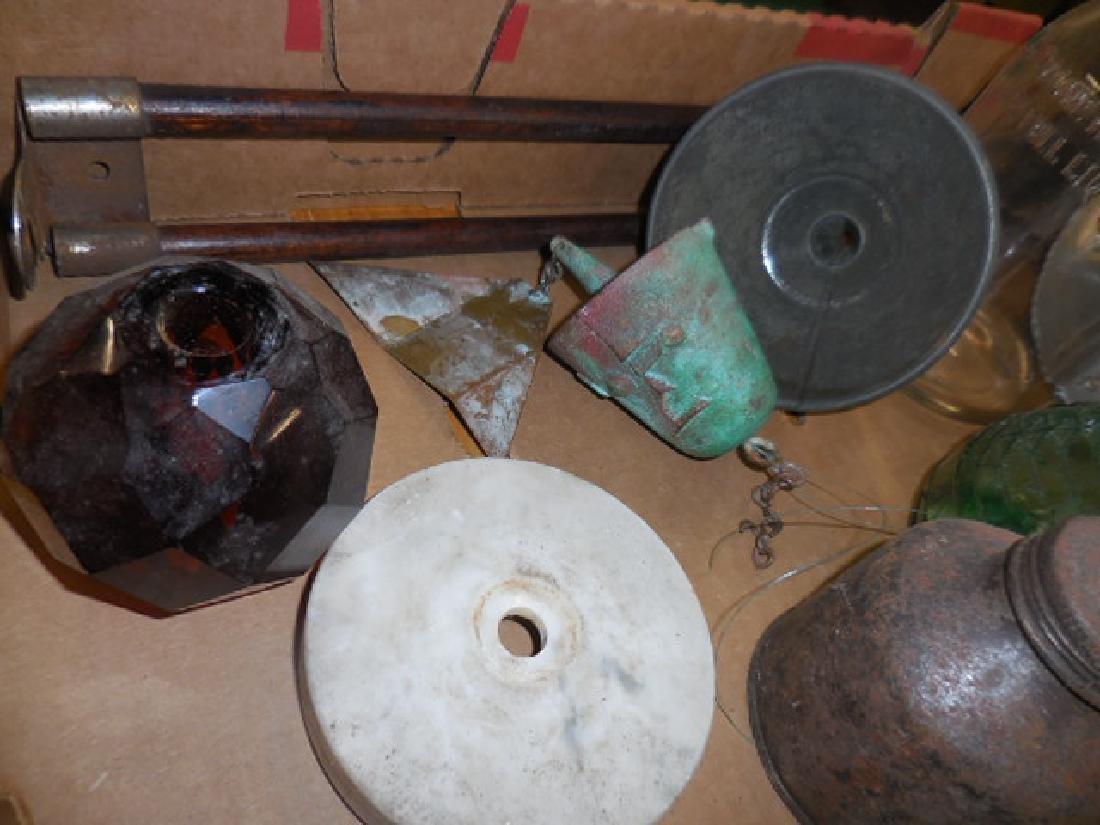 Motor Oil Bottles, Green Bottle Seal - 3