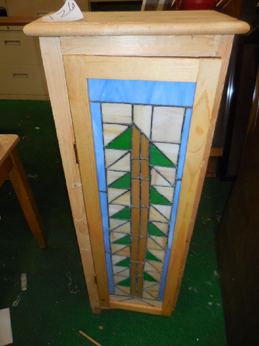 Stained Glass Wall Mount Cabinet