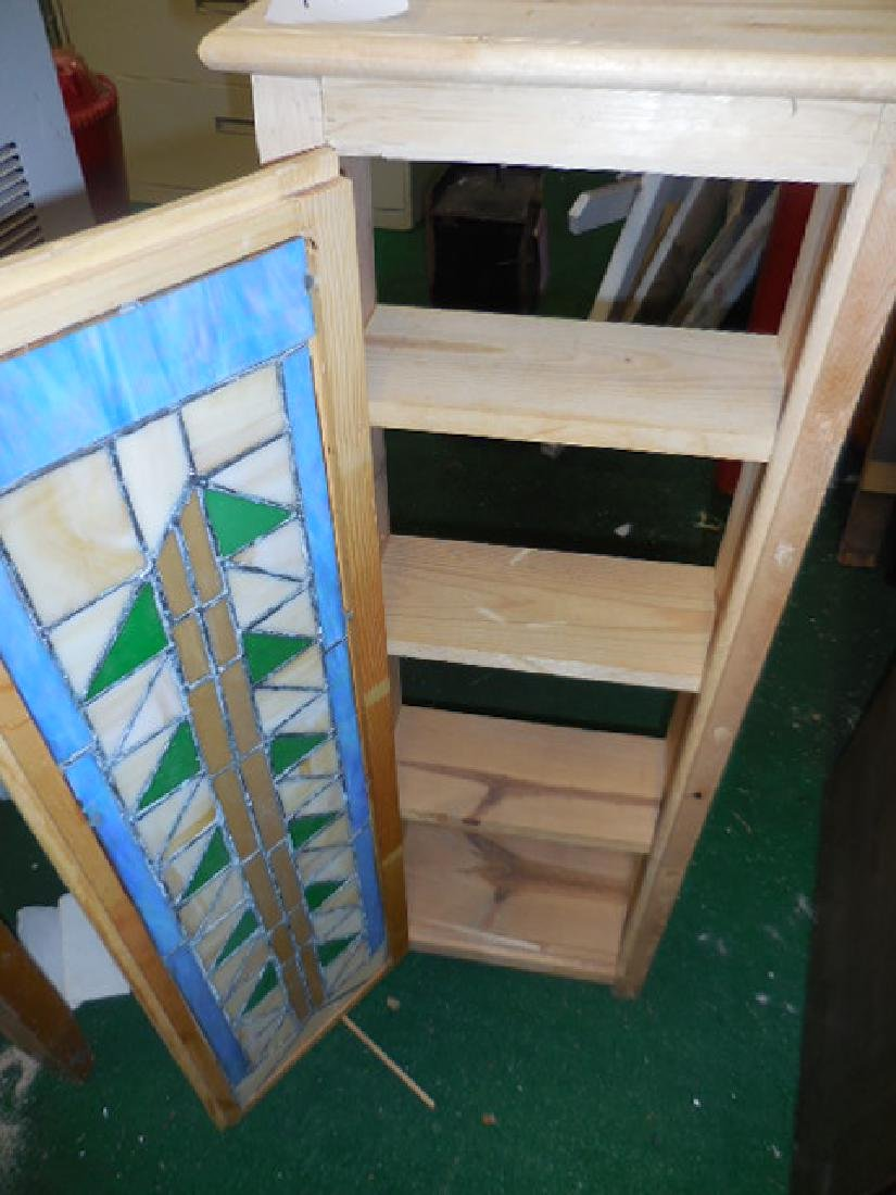 Stained Glass Wall Mount Cabinet - 2
