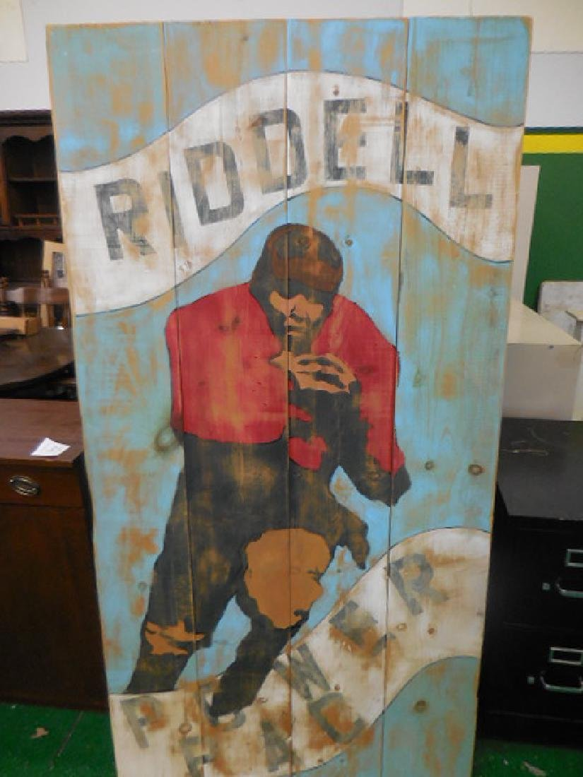 RIDDELL Football Wood Painting