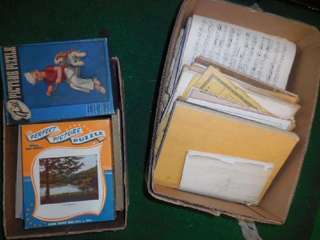 Music Sheets,  Vintage Puzzles
