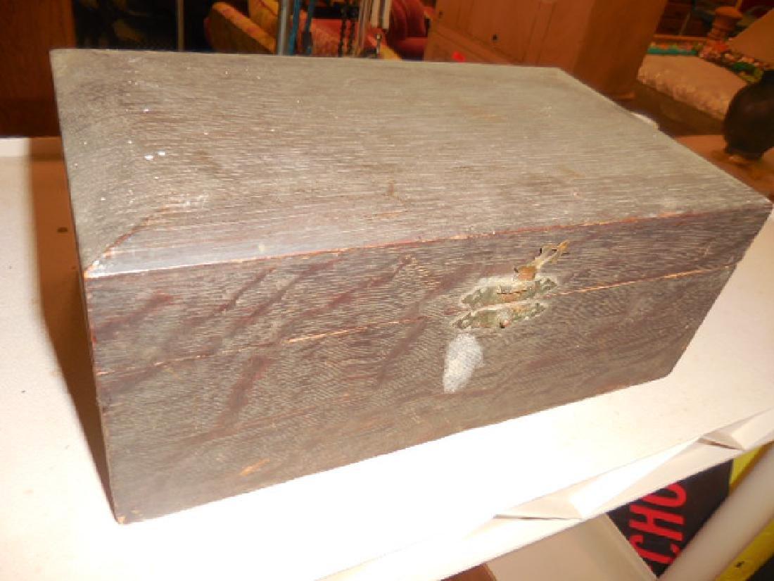 Antique Wood Jewelry Box