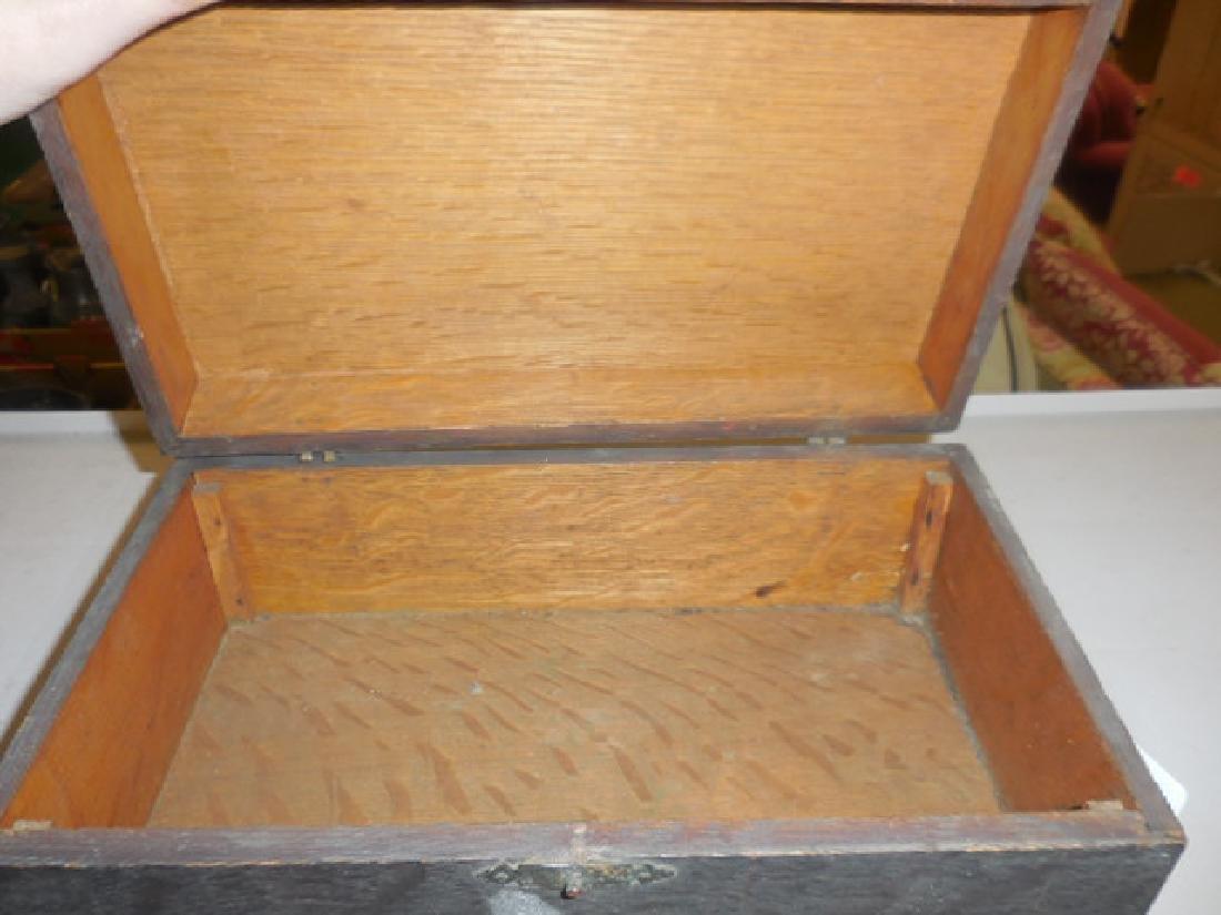 Antique Wood Jewelry Box - 2