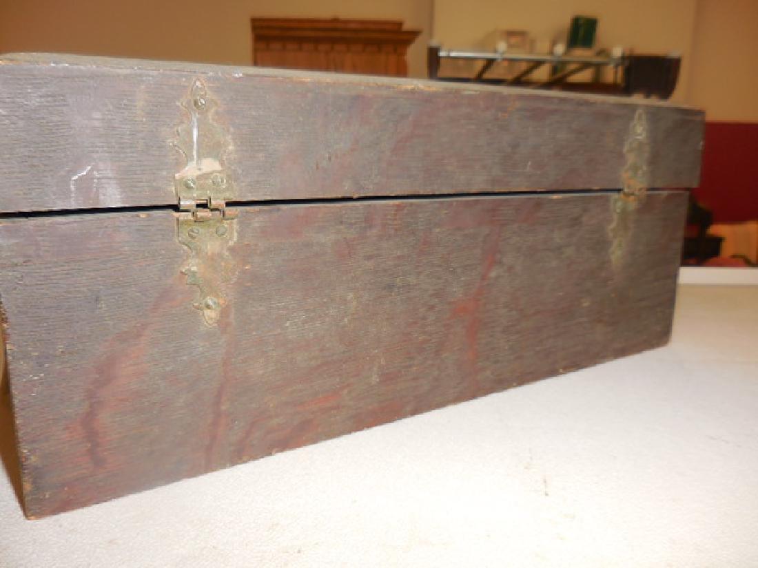 Antique Wood Jewelry Box - 4