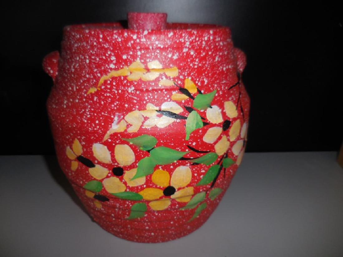 Stoneware Bean Pot Cookie Jar
