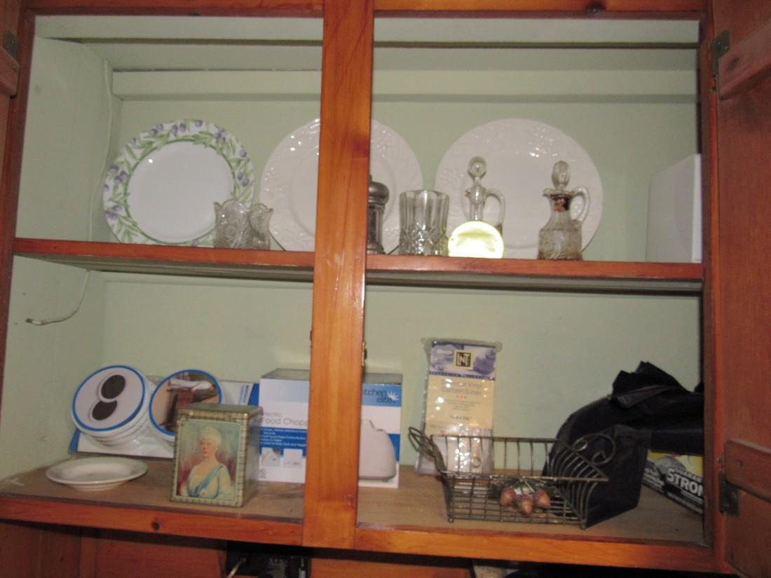 Kitchen Cabinet Lot Pots Pans Cruets &  Misc.
