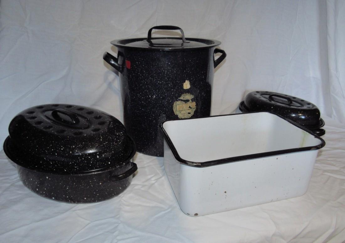 Agateware Roasters Pot & Pan