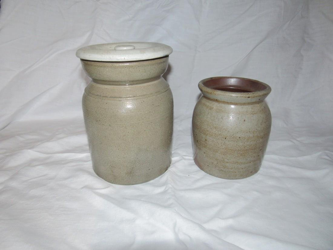 2 Stoneware Crocks