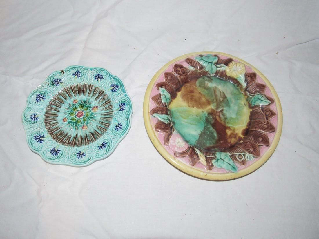 2 Majolica Plates