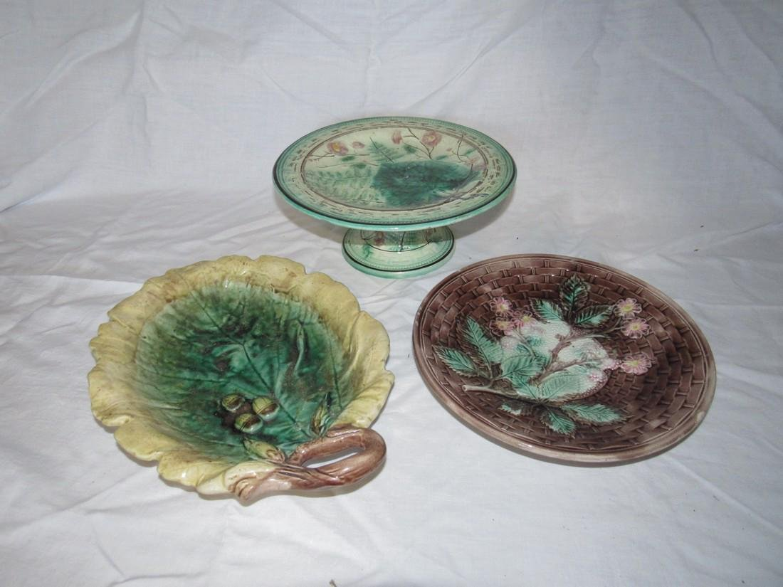 3 Pieces of Damaged Majolica