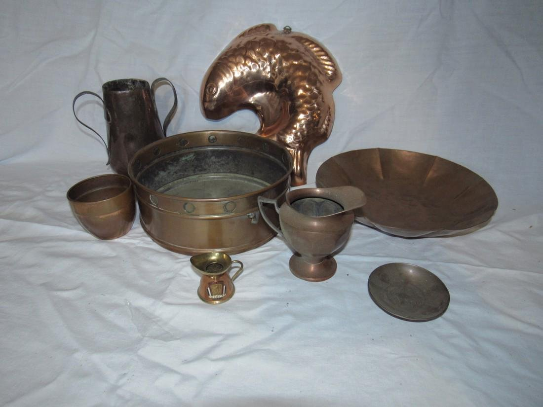 Copperware Lot Pitchers Mold Pan