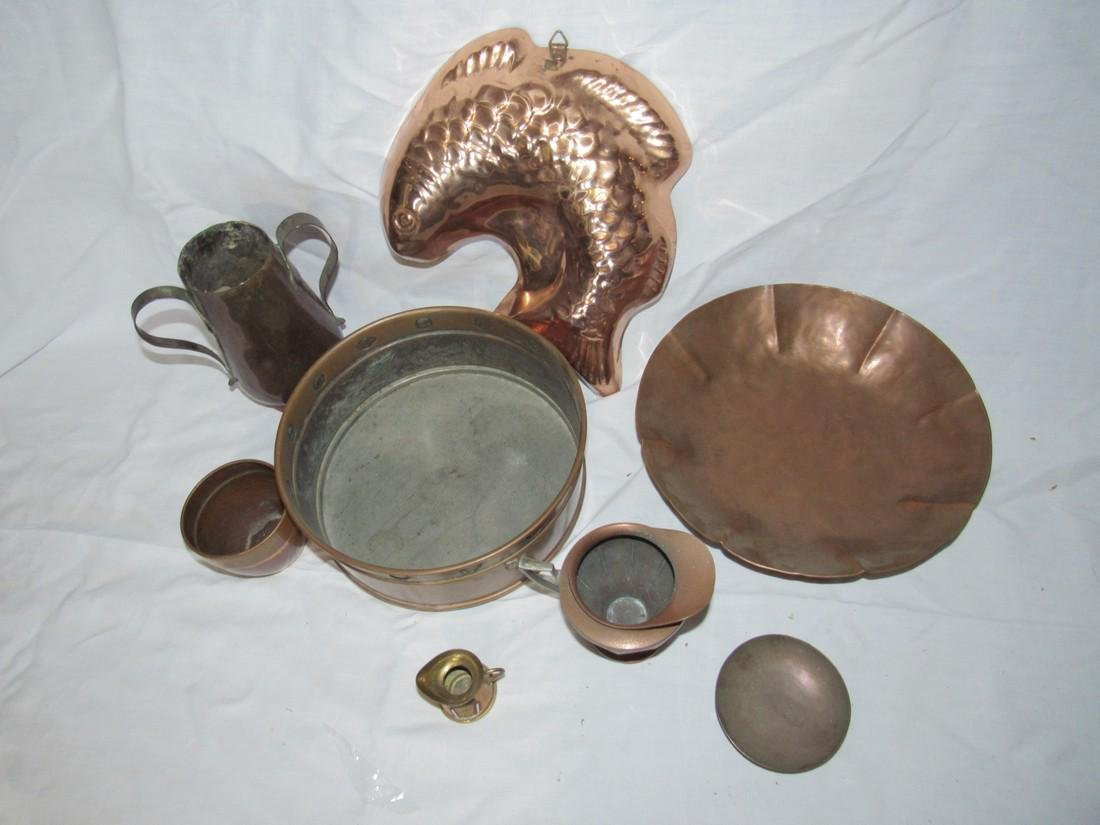 Copperware Lot Pitchers Mold Pan - 2