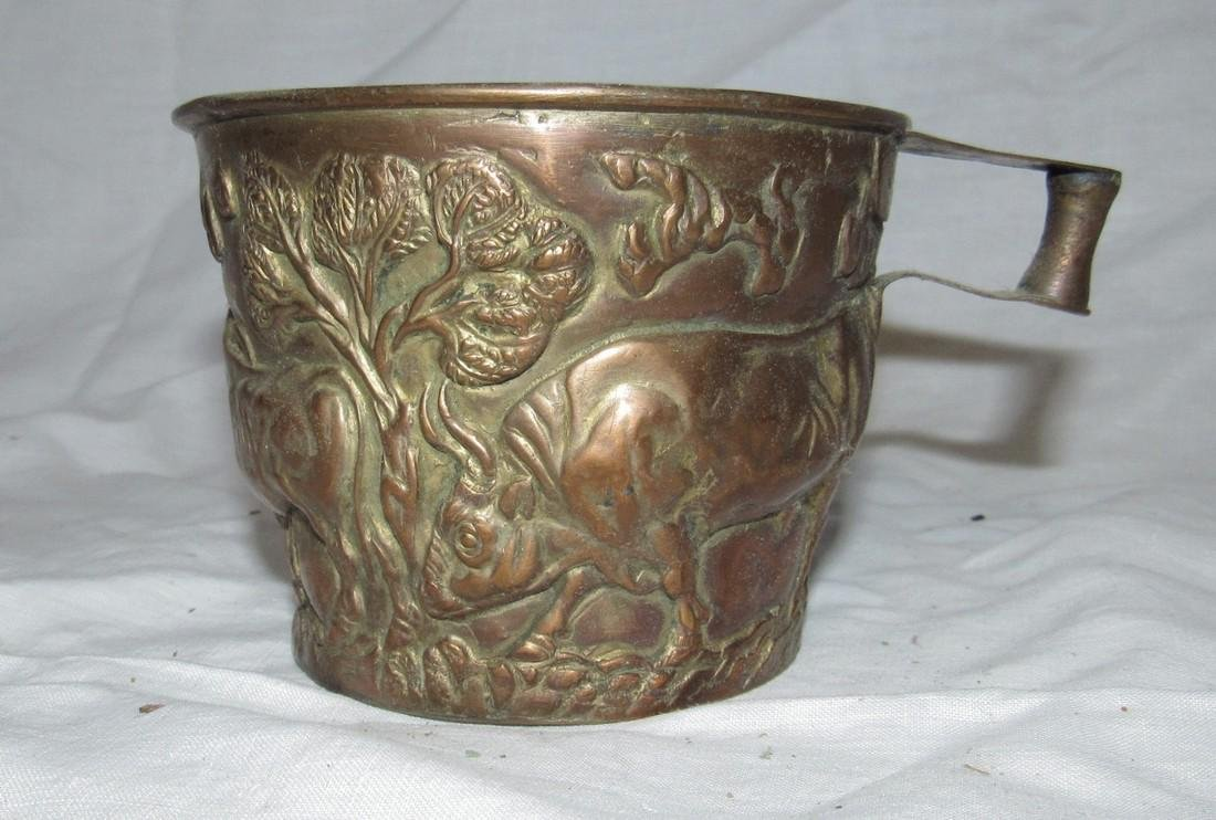 Embossed Ox / Cow Copper Cup