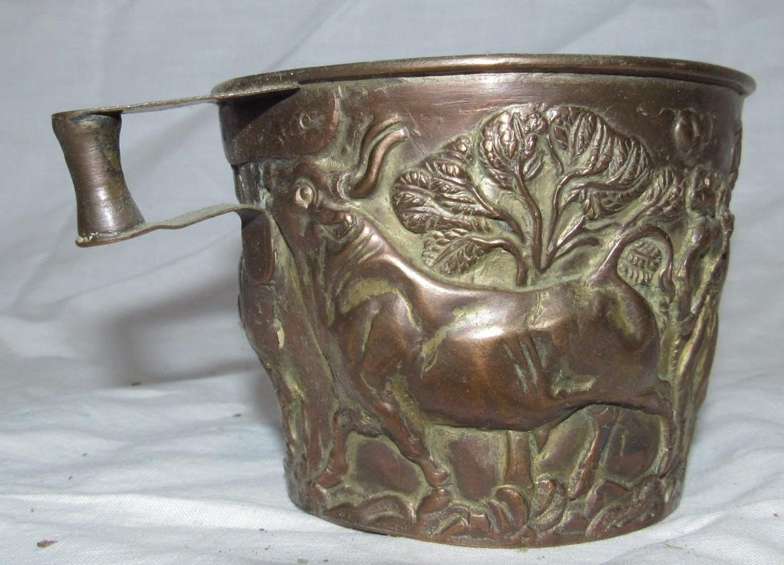 Embossed Ox / Cow Copper Cup - 3