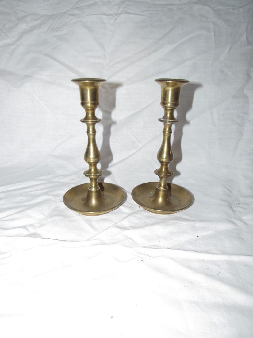 Heavy Brass Candlesticks