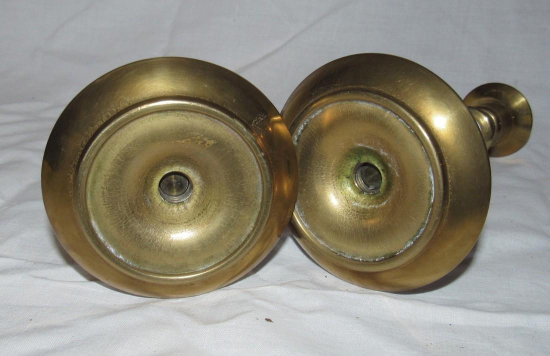 Heavy Brass Candlesticks - 2