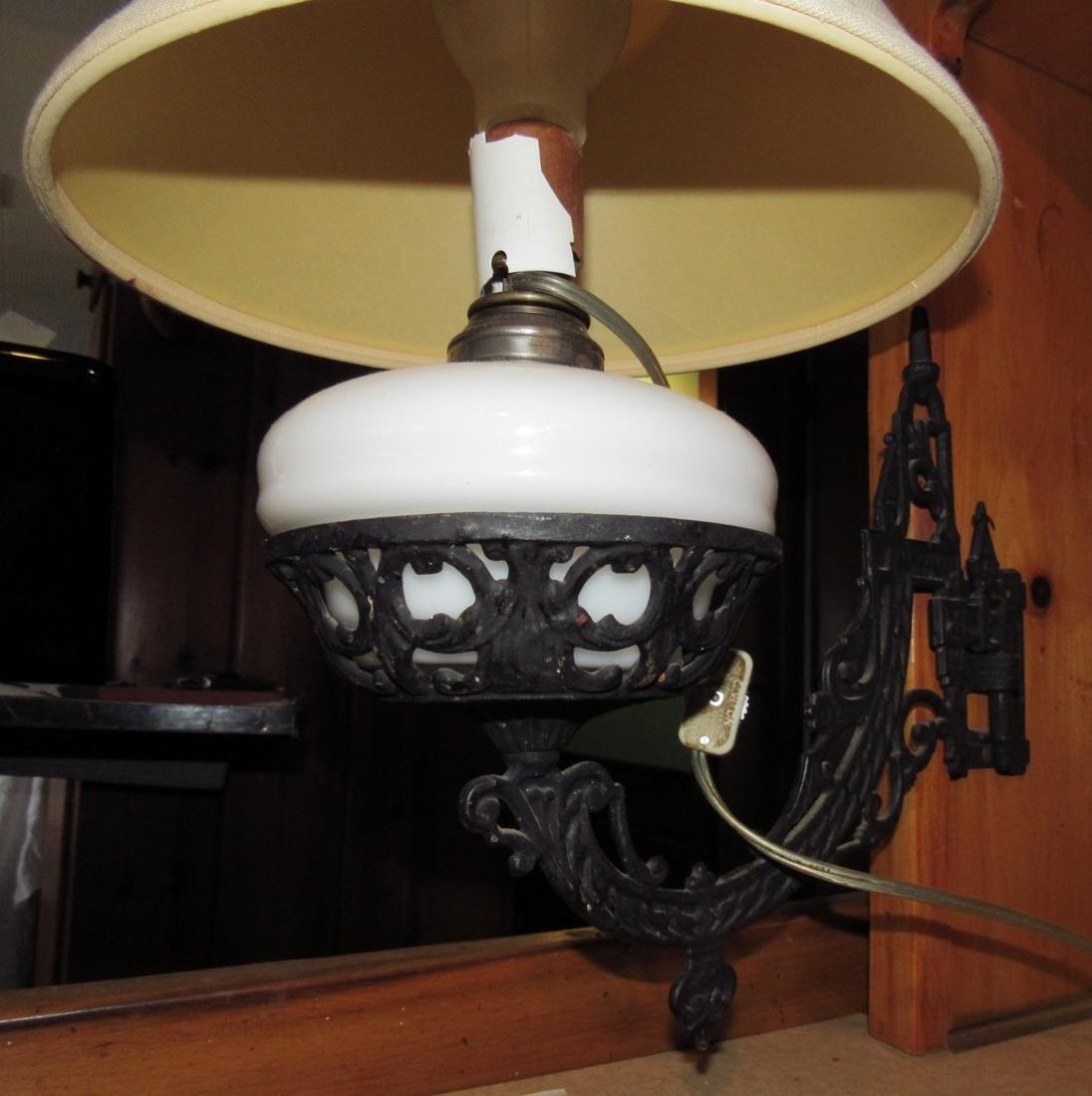 Electrified Oil Lamp & Wall Bracket - 2