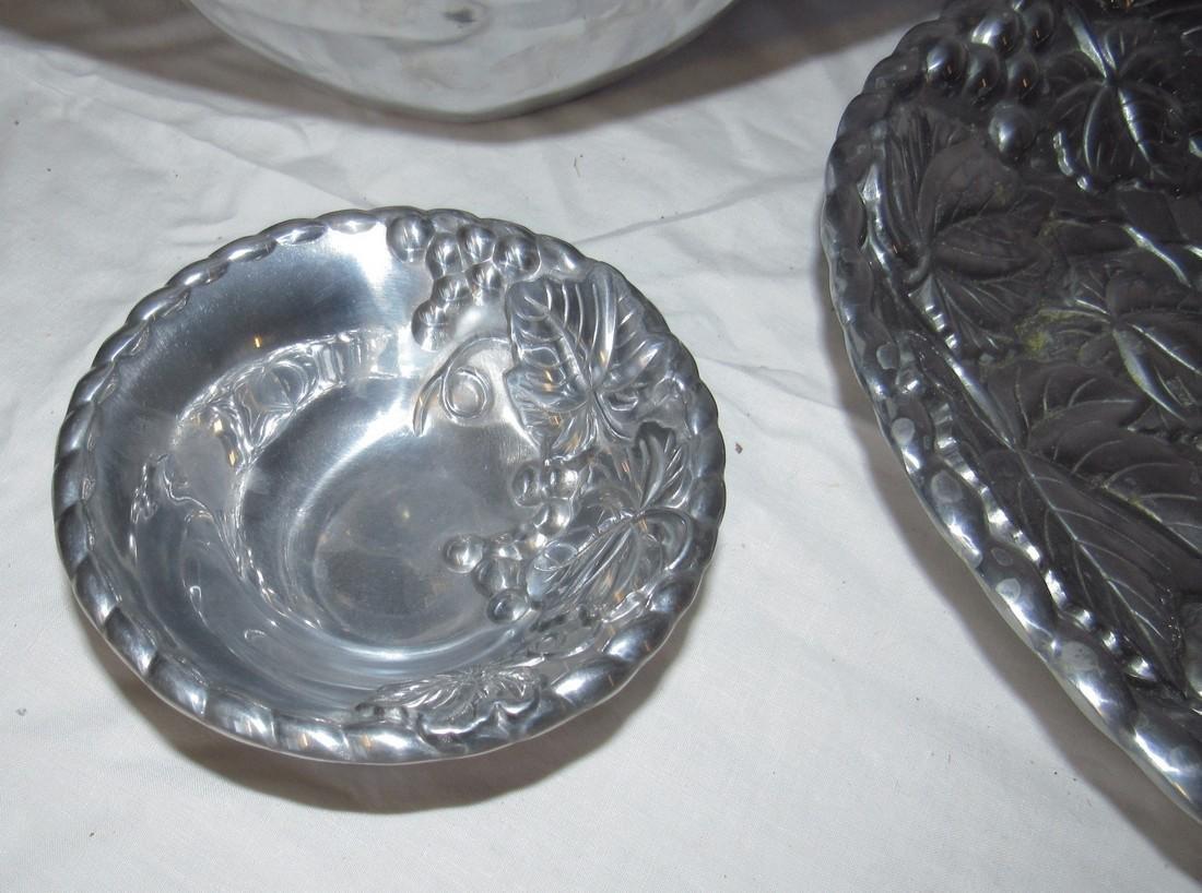 Lenox Stainless Steel Salad Bowl Fork & Spoon & Platter - 4