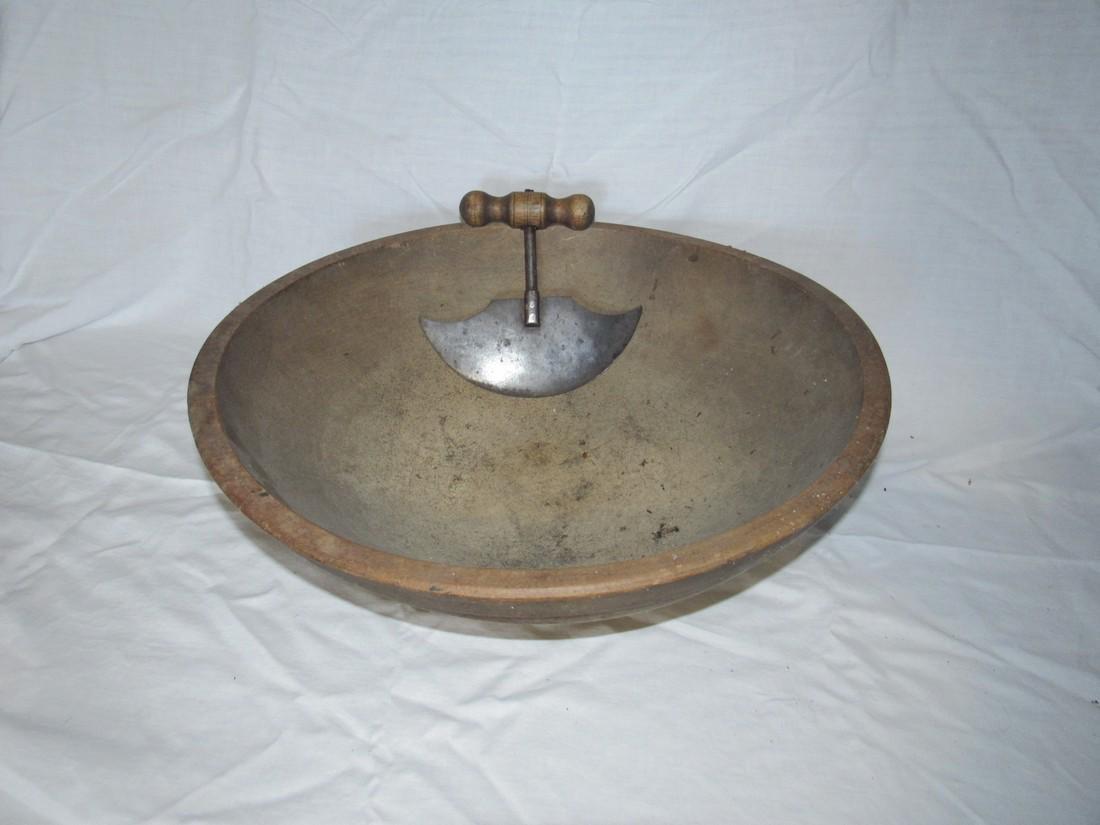 """17 1/2"""" Wooden Bowl & Chopper"""