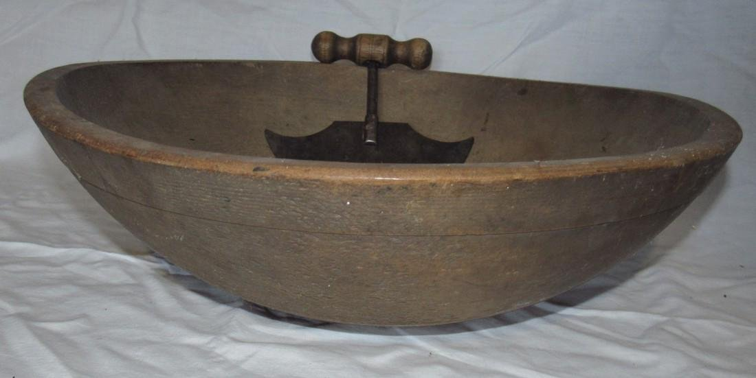 """17 1/2"""" Wooden Bowl & Chopper - 3"""