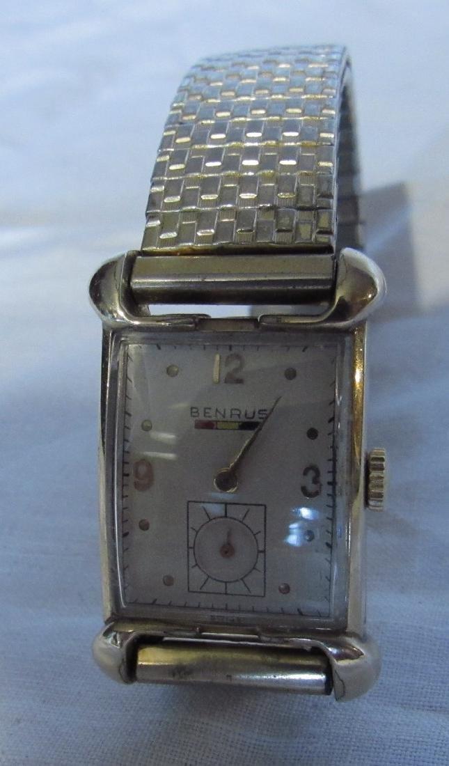 Benrus 18k Gold Filled Watch Hampton Fire Department - 3