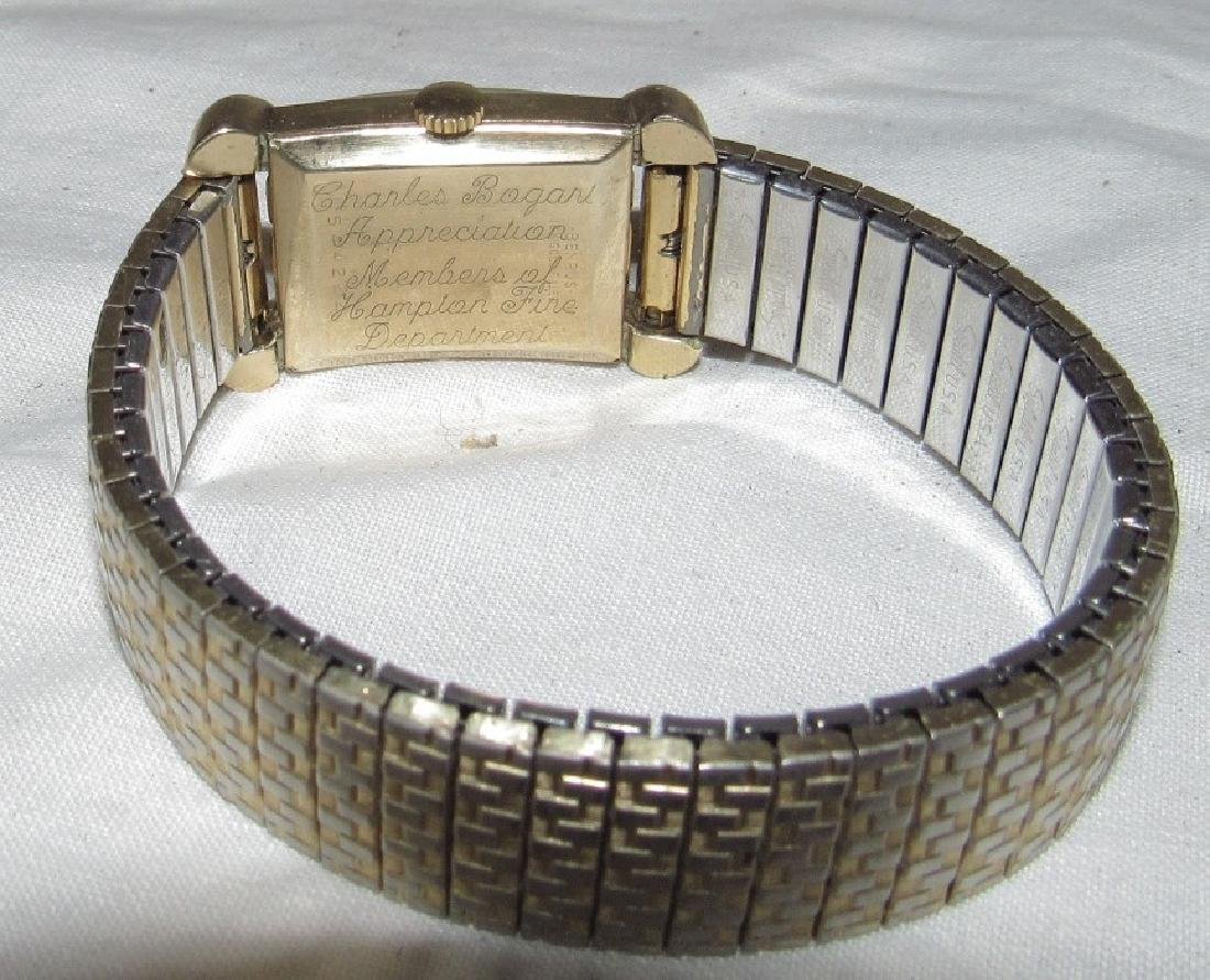 Benrus 18k Gold Filled Watch Hampton Fire Department - 4