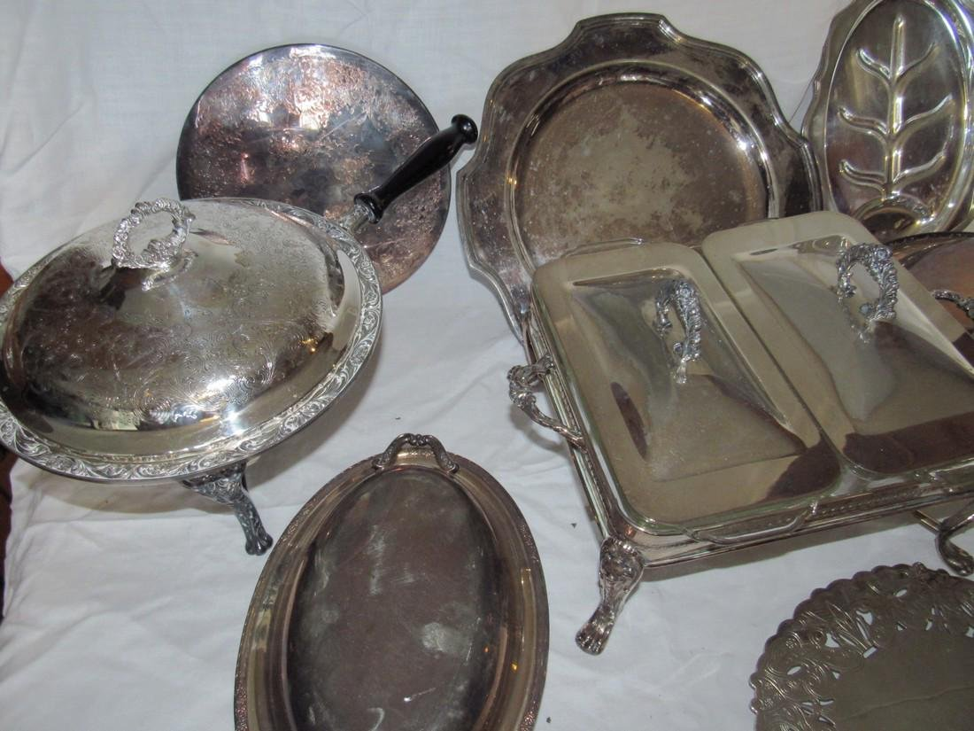 Large Lot of Silver Plate - 2