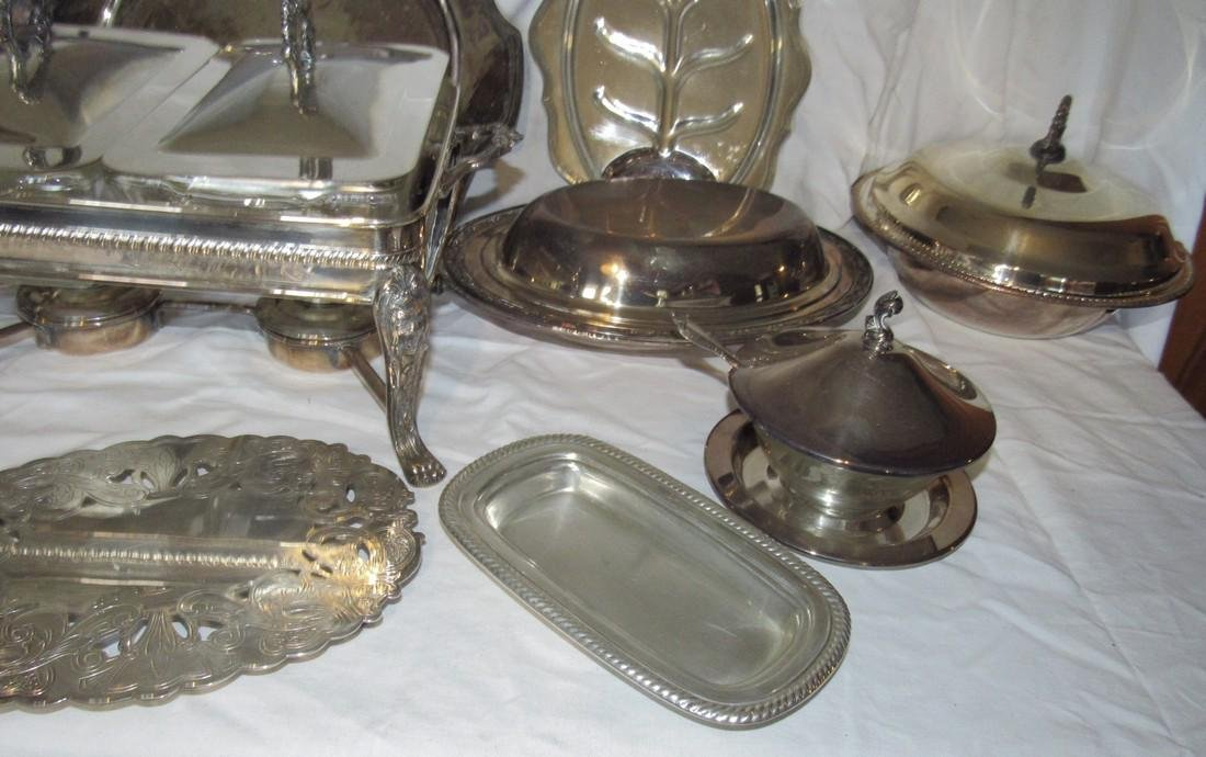 Large Lot of Silver Plate - 4