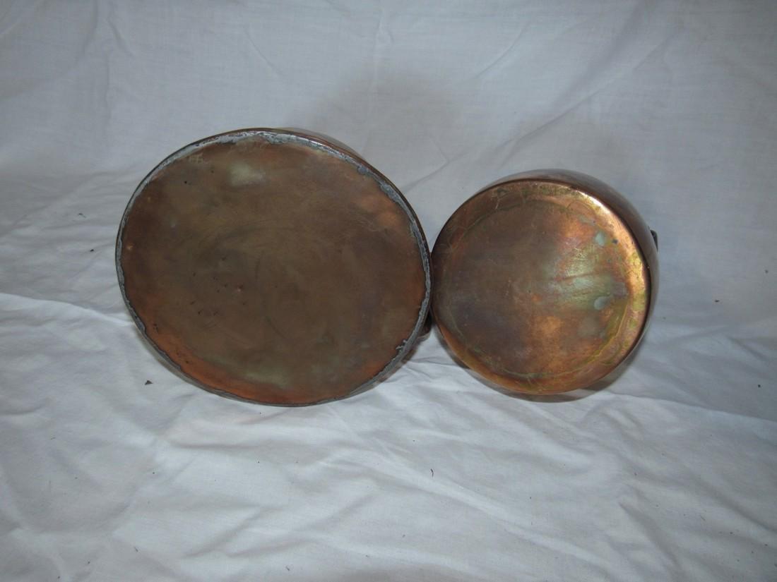 2 Copper Teapots - 2