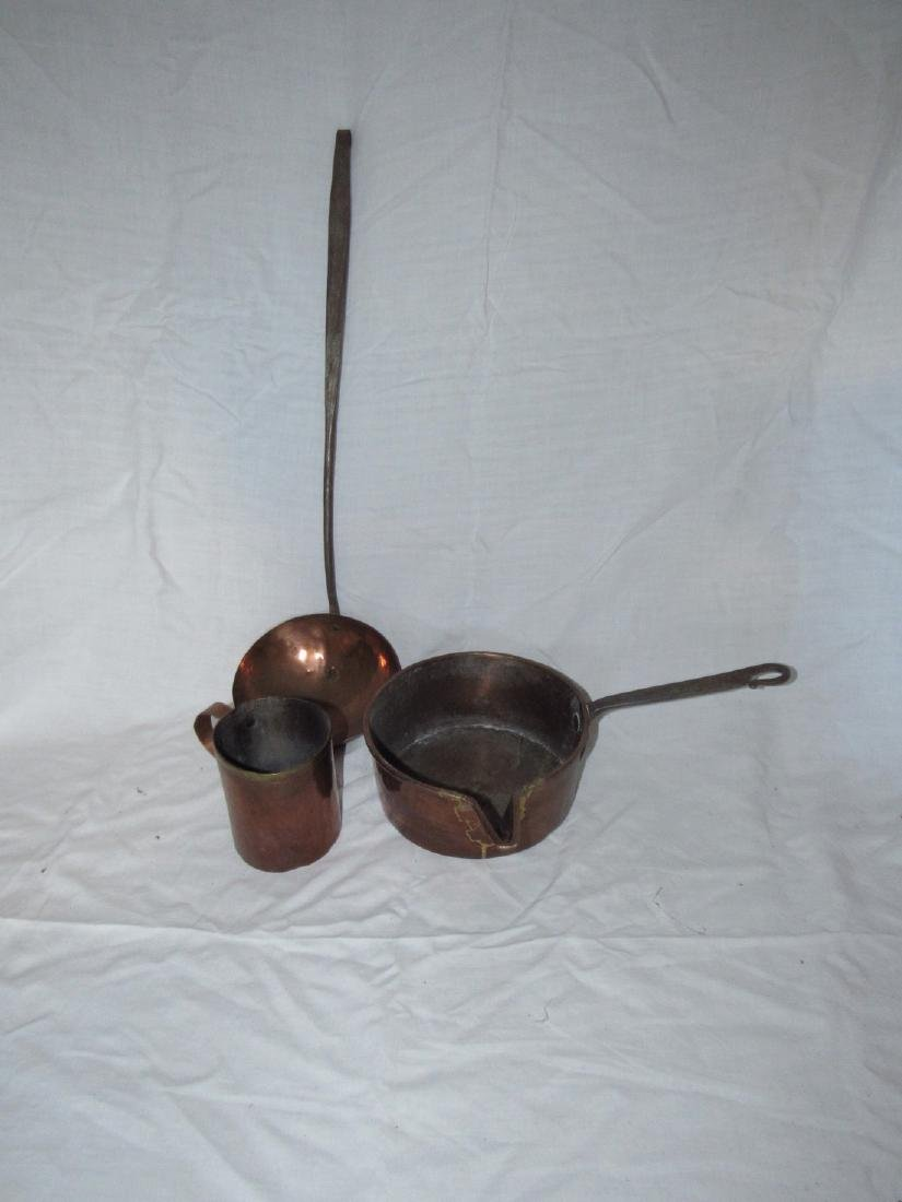 Copper Pan Dovetailed Cup & Ladle