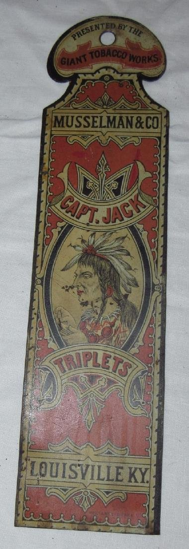 Musselman & Co. Capt Jack Triplets Tobacco Indian Sign